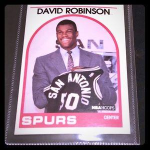 1989 NBA Hoops #138 DAVID ROBINSON Rookie RC HOF